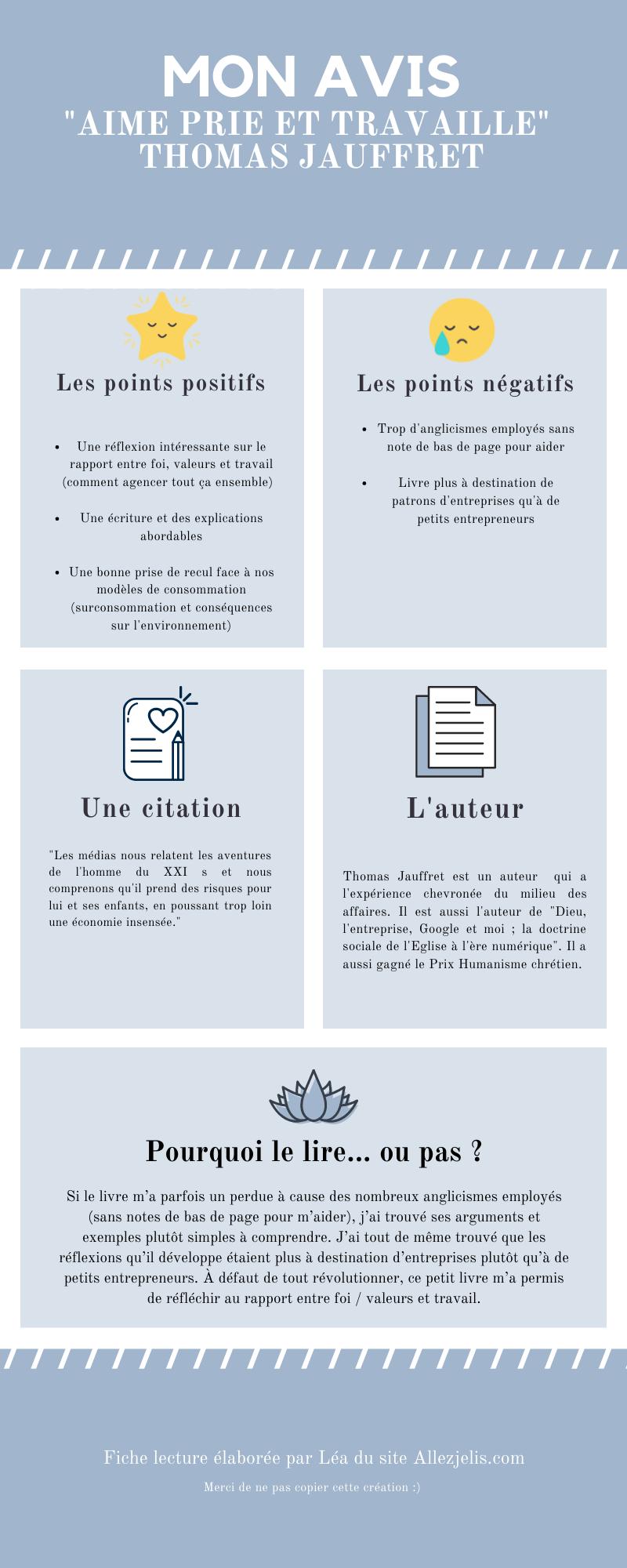 infographie aime prie et travaille